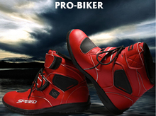 Free shipping Hot sales  Motorcycle Boots Pro biker SPEED Moto Racing Motocross Motorbike Shoes A005 Black/White/Red size 38-45