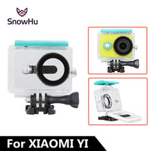 SnowHu 45M Underwater Diving Waterproof Case for Xiaomi Yi Sports Waterproof Box for Xiaomi yi Action camera Protective LD11 все цены