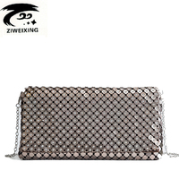 Luxury Diamonds Designer Evening Bags High Quality Metal Makeup Bag For Women Fashion Sequins Ladies Shoulderbag