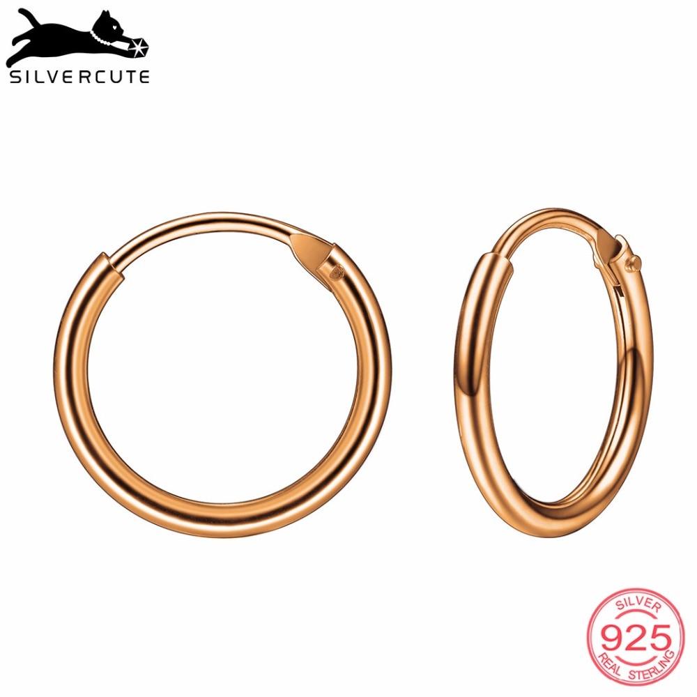 Silvercute маленькі прості сережки для - Вишукані прикраси