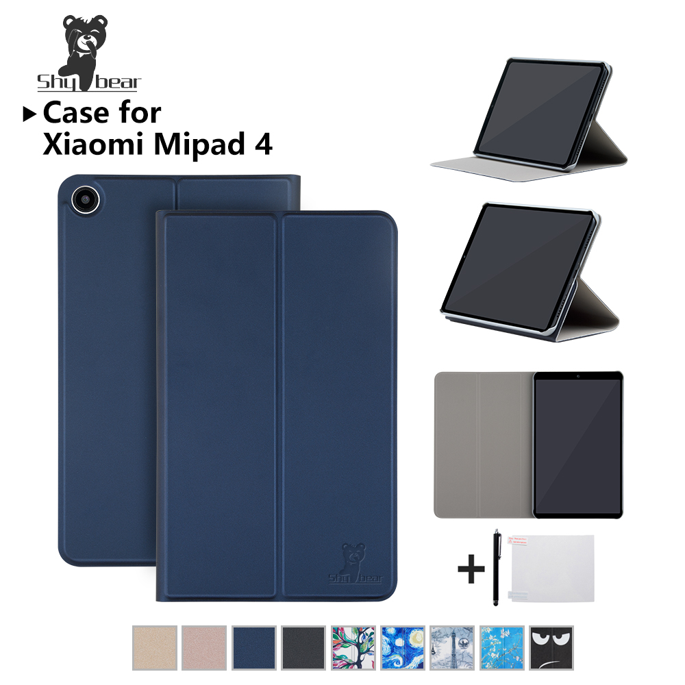 Shy Bear Cover Case For Xiaomi Mi Pad 4 MiPad4 8 inch PU Leather Protective Smart Case for xiaomi MiPad4 MiPad 8.0