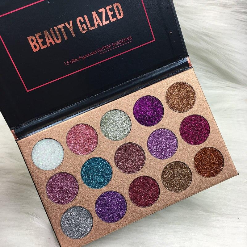 Colore Parete Glitter : Beauty glazed pressed glitter eyeshadow palette colors