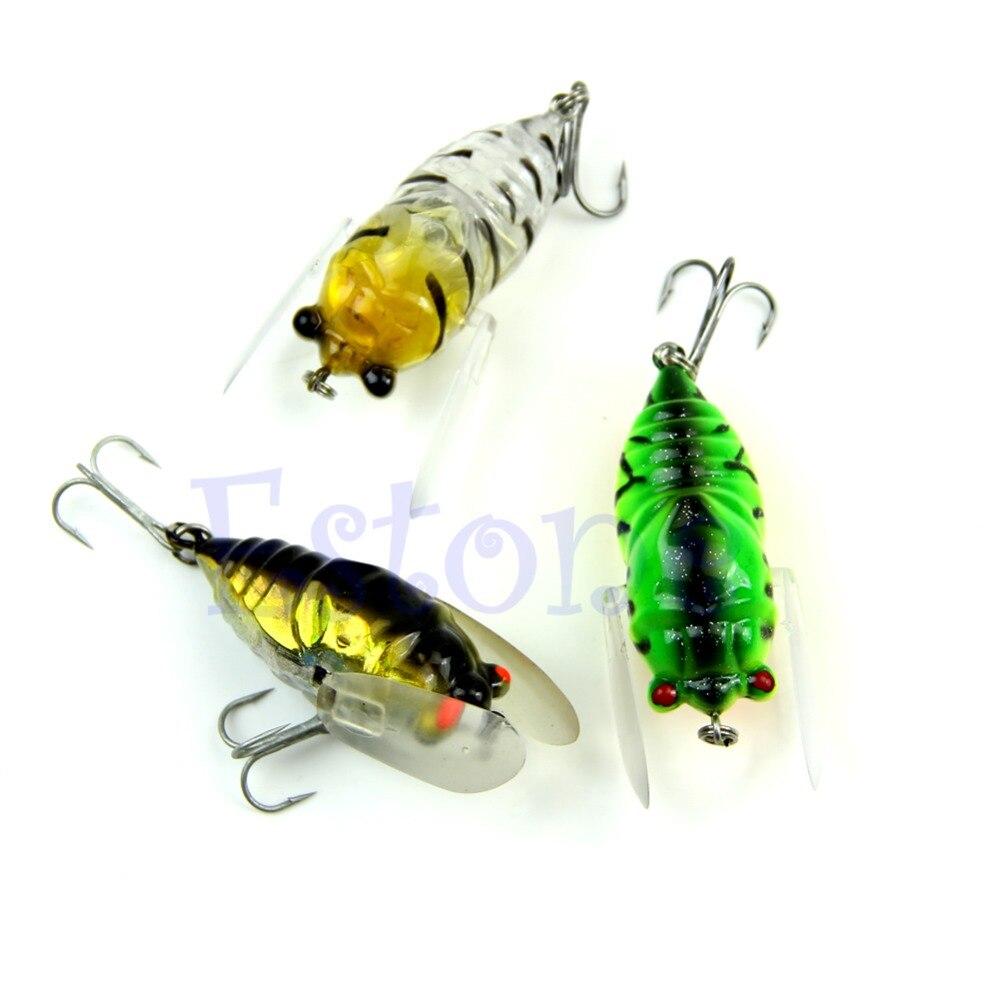1Pc font b Fishing b font Lures Bass Cicada Baits CrankBait font b Floating b font