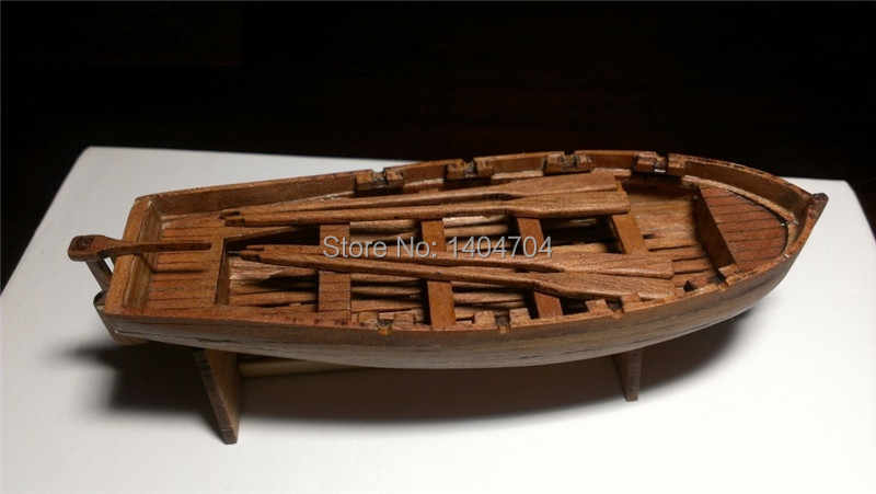 NIDALE model Free shipping Laser-cut model Precise assembly Wooden boat suite Italy General lifeboat Wooden dinghy