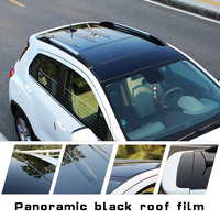 Black High Glossy Mirror Surface Auto Mobile Self Adhesive Car Sunroof Protection Panoramic Roof Car Sunroof Film Vinyl Wrap