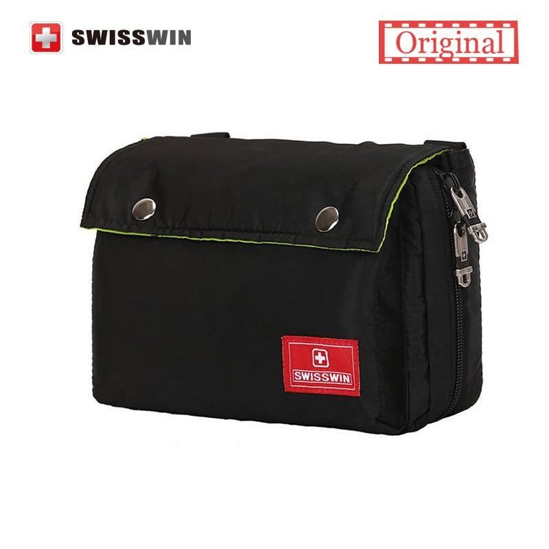 2017 Swisswin Small Messenger Shoulder Bag Men Brand Shoulder Satchel for iPad Multi pocket Casual Women