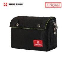 2017 Swisswin Kleine Messenger Umhängetasche Männer Marke Schulterschul für iPad mehrfach Casual Frauen Gürtel Tasche Schwarz grau