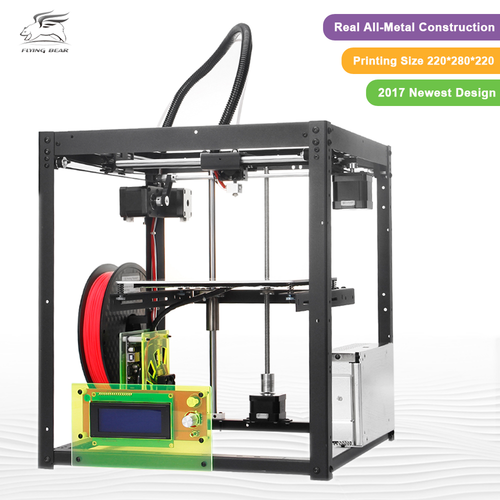 Hot Sale Flyingbear-P905 DIY 3d Printer kit High Quality Full metal Precision Auto leveling Makerbot Structure Gifts anet high precision auto leveling 3d printer big size lcd 2004 220 270 220mm metal 3d printer kit with 10m filament sd card