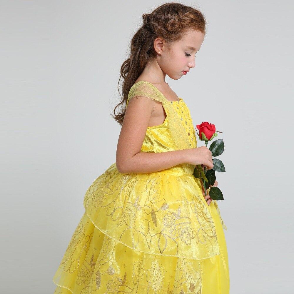 été 2017 Film Belle Costume Enfants Sweet Princesse Belle Robe Bébé