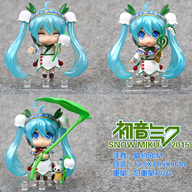 10cm Q version Hatsune Miku Popular PVC Action Figure Magical girl Lotus leaf hatsune Model Collection Toy Birthday Gift