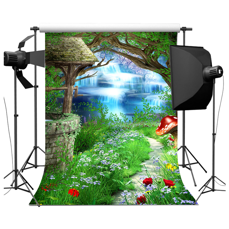 Fairy Tale Vinyl Photography Backdrop Background Studio Photo Prop 5x7ft Green