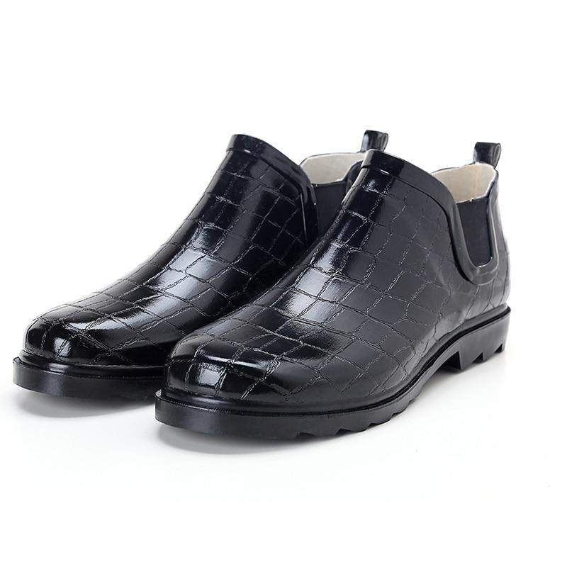 2017 winter fishing boots men rain boots fashion bot for Rubber fishing boots