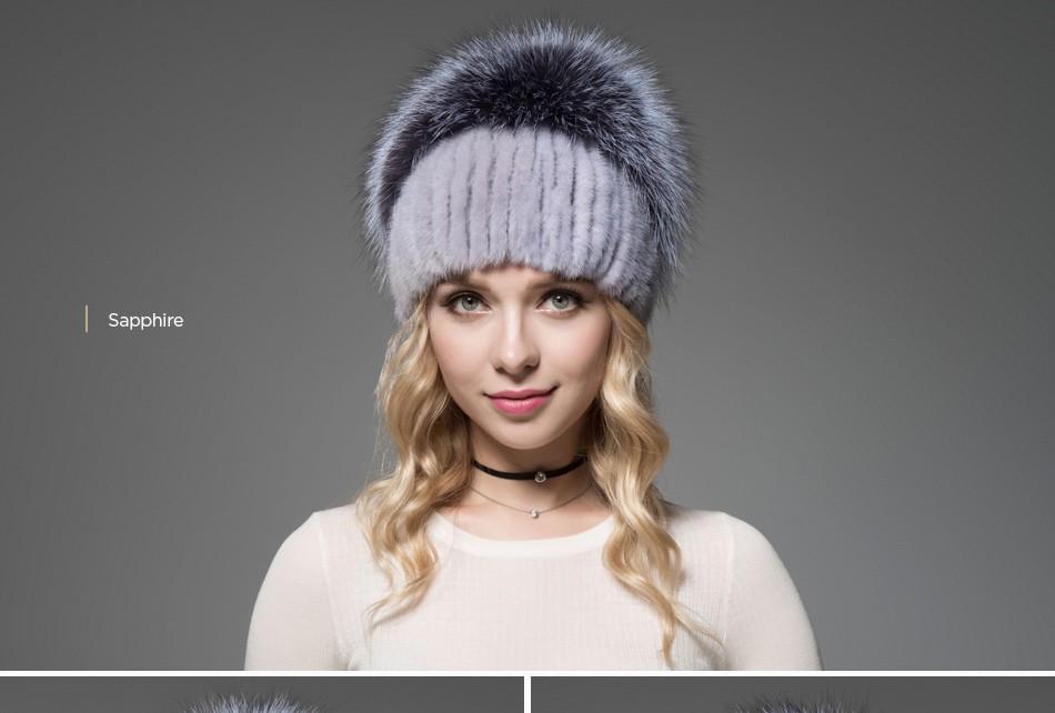 fur woman winter hats PCM012 (16)