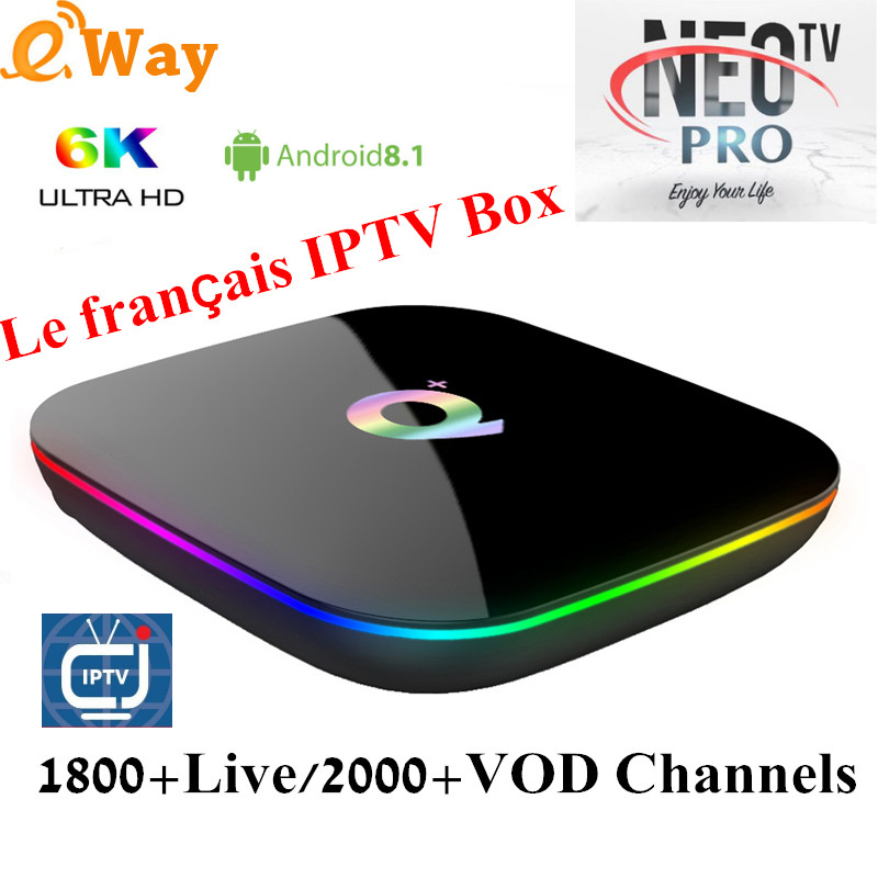 Q PLUS 4GB 64GB 6K HD NEOTV PRO 1 year europe IPTV Subscription Italy French Spain