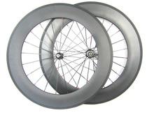 Rueda de carbono profundidad 20.5 anchura de 88mm juego de ruedas de bicicleta del remachador 700C de fibra de carbono 11 velocidad rueda de pintura