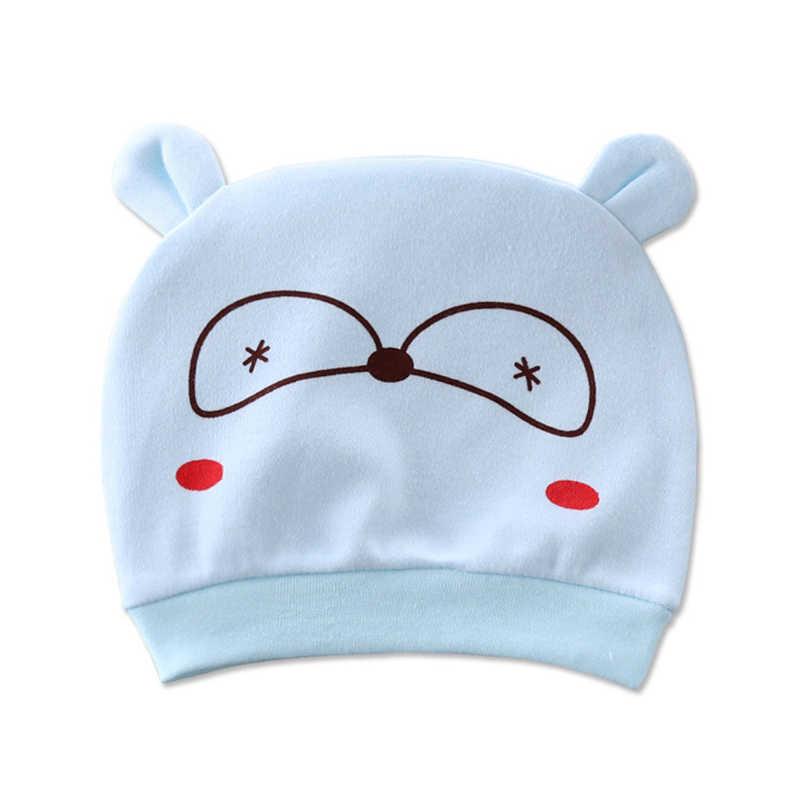 AmyaBaby recién nacido bebé niña sombrero dibujos animados 100% algodón bebé niño gorra Unisex niños niñas Muts nuevos sombreros bebé Accesorios 4 temporadas