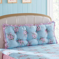 Rustic princess bed big 100% cotton large cushion soft bag 100% cotton long kaozhen double bed core