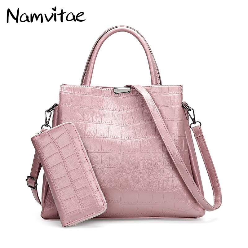 Namvitae Women Leather Handbags and Purse Fashion Brand Designer Ladies Casual Tote Shoulder Bag bolsa feminina Luxury Women Bag imido 2017 luxury brand designer women handbags leather shoulder bag retro tote daily bags for ladies gray bolsa feminina hdg008