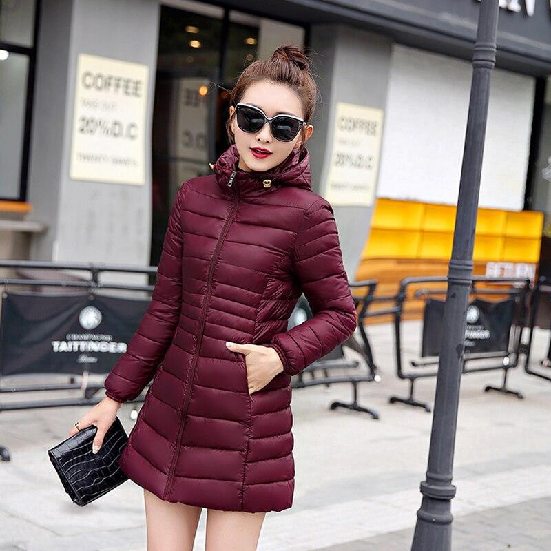 Mince Jaune Femme Black Parkas Dames yellow La Plus Avec De Rouge Manteaux Noir Capuche Taille red purple Vêtements D'hiver Red Vestes Femmes P8SgA