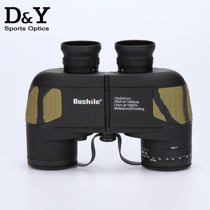 Professional Brand 10X50 Nautical Waterproof Military Floating Binoculars Navigation Telescope Built in font b Rangefinder b