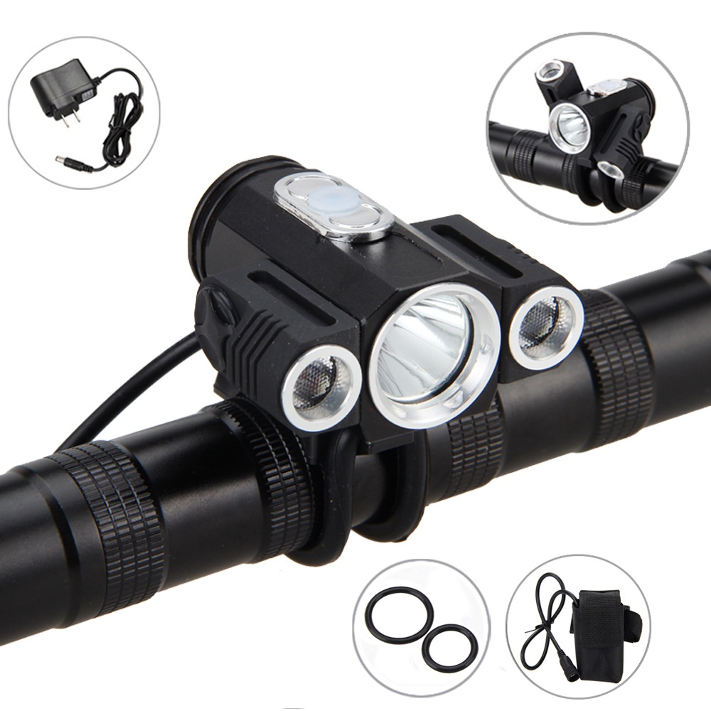 10000LM 3x XML T6 LED Bycicle Light Bike Head Lamp Torch Rechargeable Headlight Headlamp Accessories for Bike Bicycle Outdoor lumiparty 4000lm headlight cree t6 led head lamp headlamp linterna torch led flashlights biking fishing torch for 18650 battery