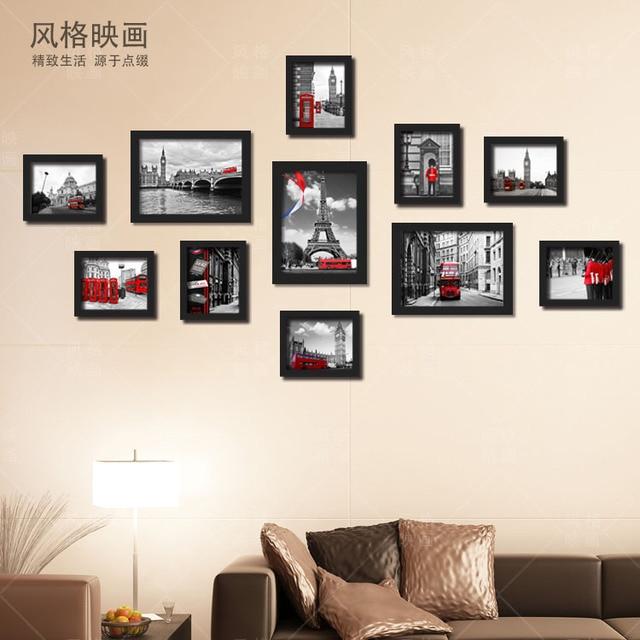 GERAHMTE Multi Panel Schwarz Und Rot Moderne England British Style  Architektonische Dekoration Malerei Für Wohnzimmer Wand