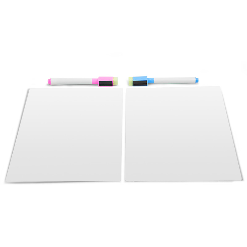 Writing board magnetic white writing board fridge writing board message board 2pieces set(3 normal markers as a gift)
