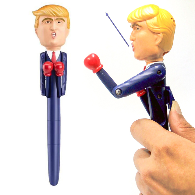Stress Relief Trump Real Voices Talking Toy Boxing Pen