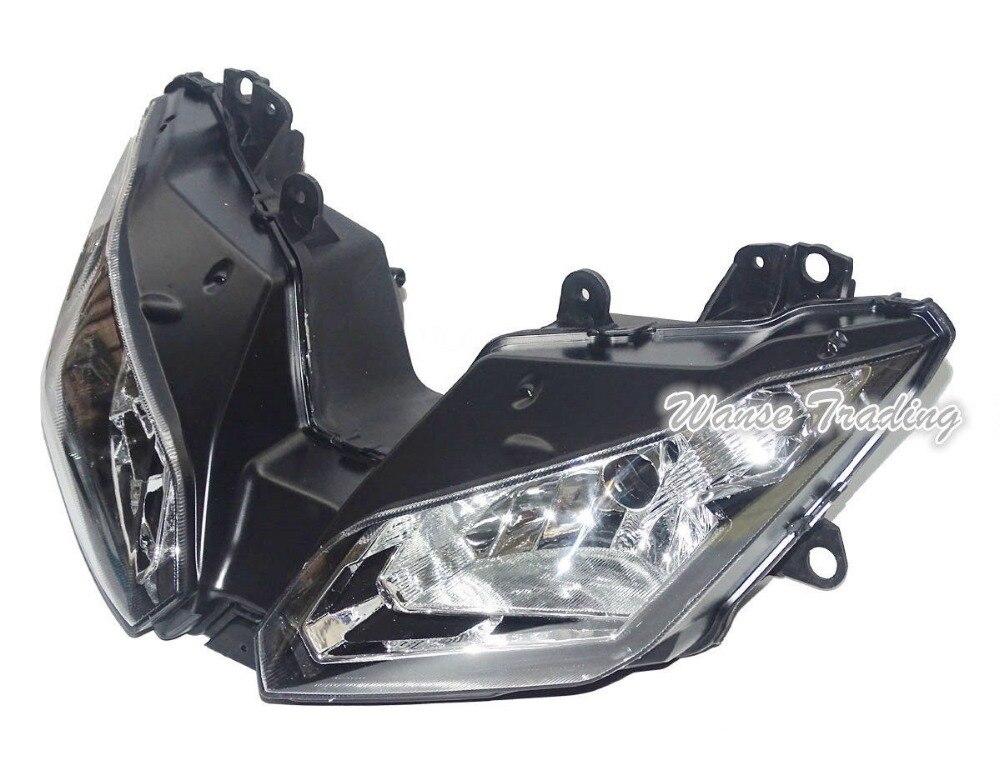 Prix pour Avant Phare Phare Assemblée Lampe Head Light Logement Cas Pour KAWASAKI Ninja 300 300R Z300 ZX300 EX300 2013 2014 2015 2016