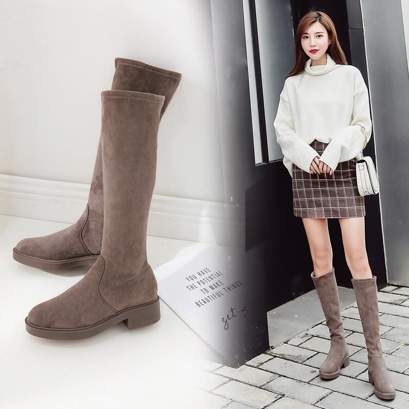 Women S Boots 2018 New Winter Shoes Woman Korean Knee High