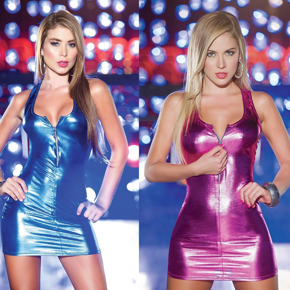 Charmed Sexy Zipper Vest Patent Leather Lingerie Imitate Stage Woman Shiny Open Bra Dress Pvc Catsuit Robe Club Erotique Qz*