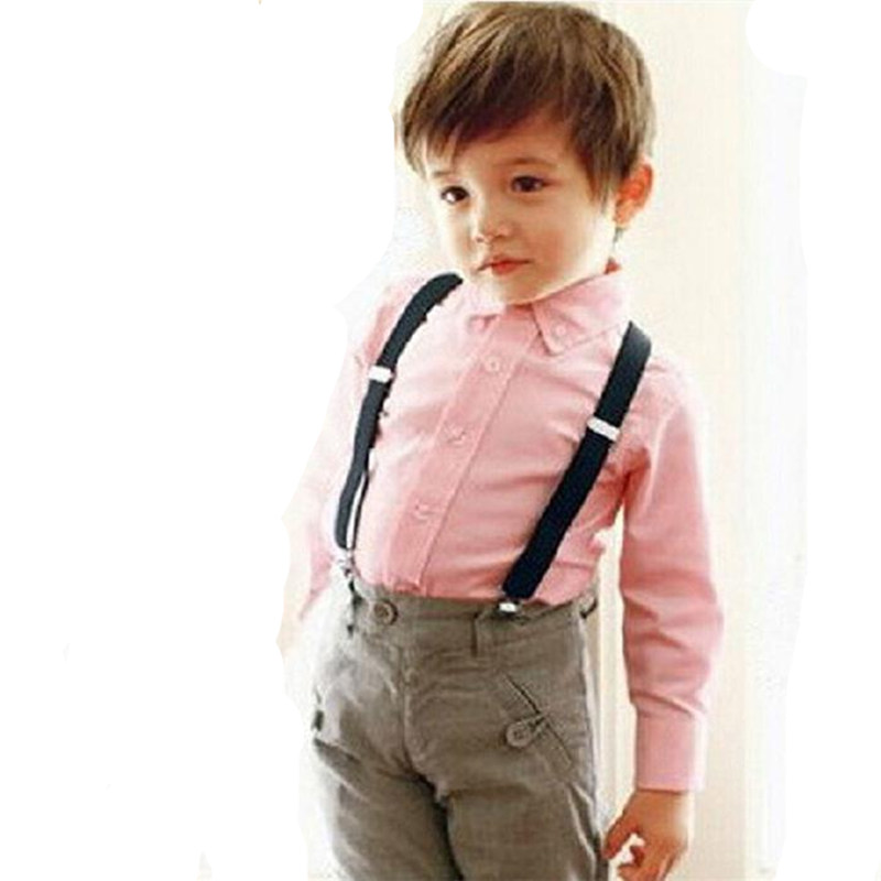 Childrens 3Clips-on Elastic Neon Adjustable Braces Suspenders Solid Colors 10pcs/lot Free Shipping