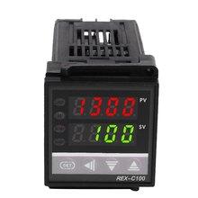 Controlador de temperatura economia de entrada multi-entrada, saída de relé de entrada universal rex c100
