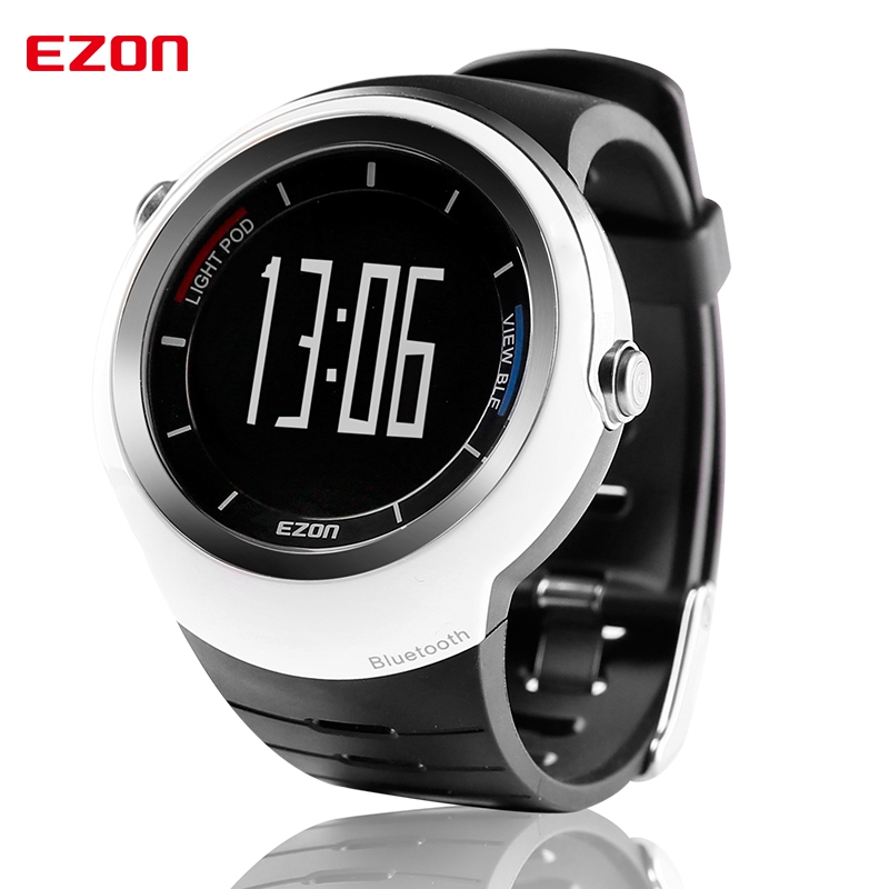 EZON Smart Bluetooth Watch Men Women Waterproof Sport Digital Watch with Call Reminder Pedometer Alarm Clock Rechargeable Saat