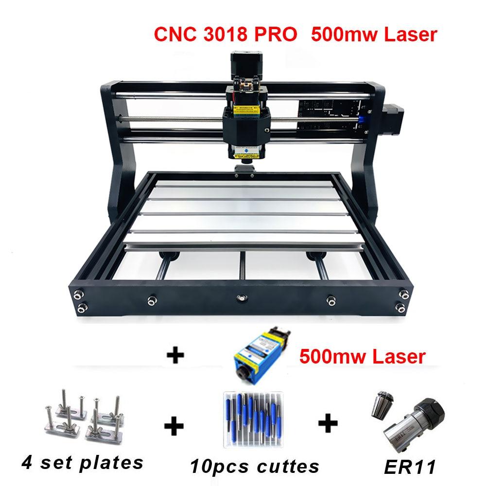 500 mw CNC 3018 pro graveur Laser bois CNC routeur Machine GRBL ER11 PCB CNC 3018 pro passe-temps bricolage Mini Laser gravure Machine