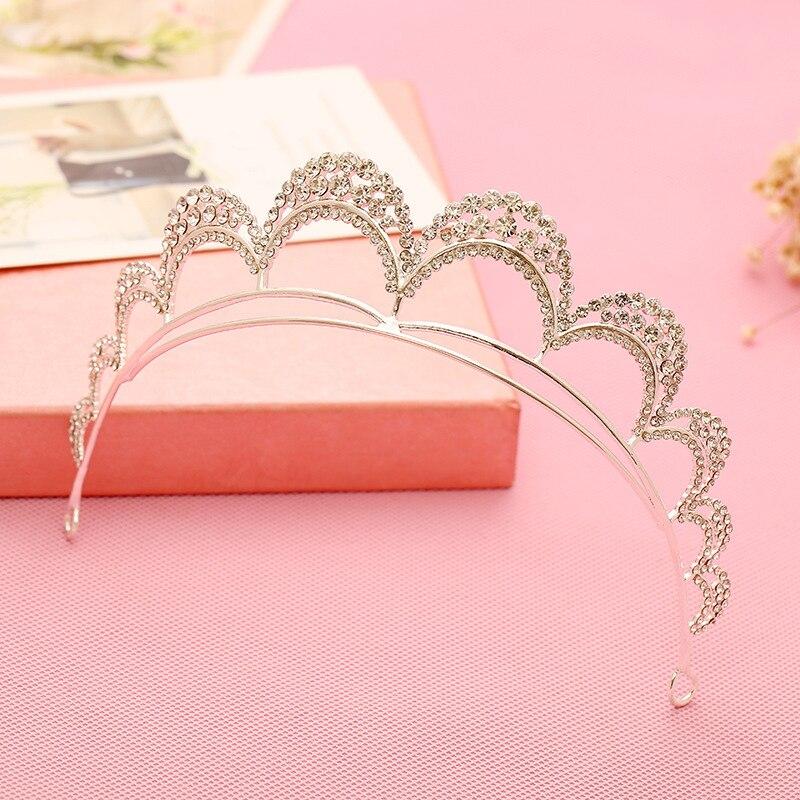 hot europenne cristal tiara prom cheveux de mariage accessoires de marie bijoux de cheveux pour la - Diademe Mariage Pas Cher