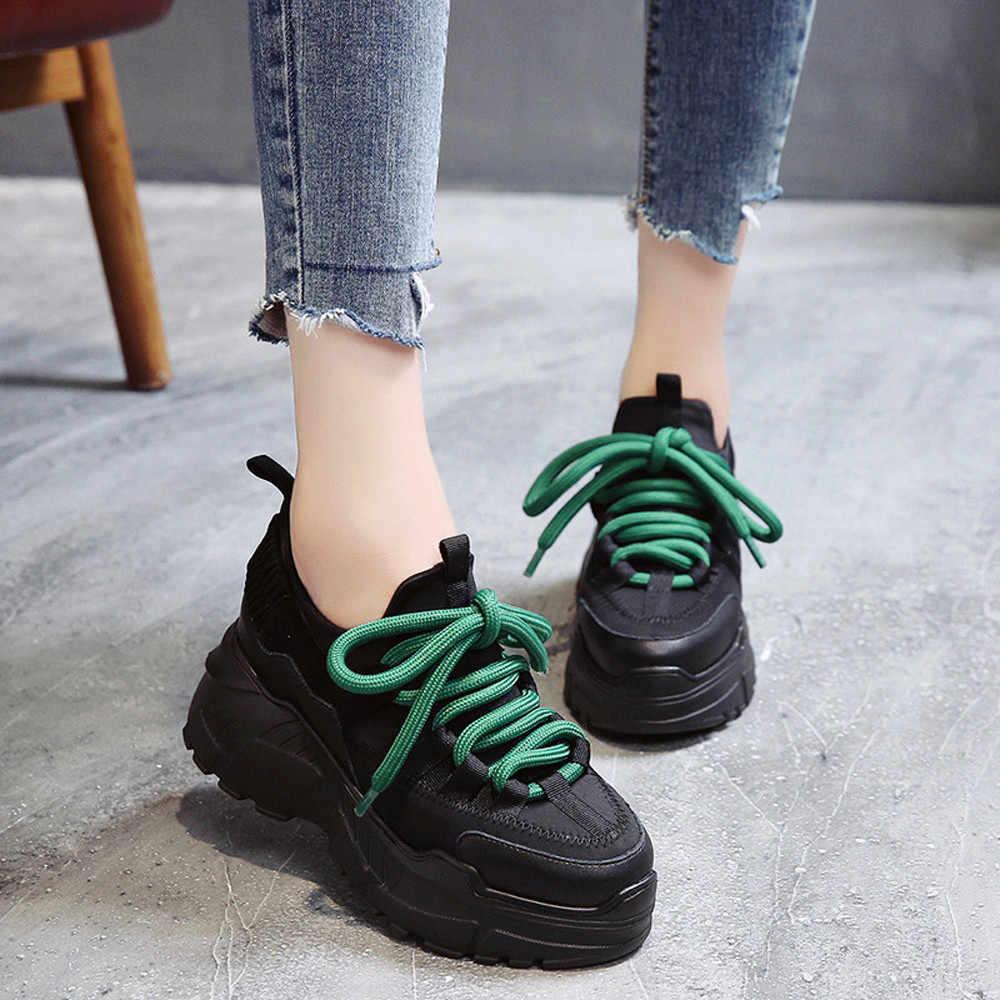 f740ee9b8 Женские модные детские кроссовки удобные дышащие на платформе спортивная  обувь сезон весна лето для отдыха фитнес