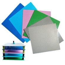 9 renkler küçük bloklar taban plakası 32*32 Dots 25.5*25.5 cm yapı taşları DIY Baseplate tuğla oyuncaklar çocuklar için