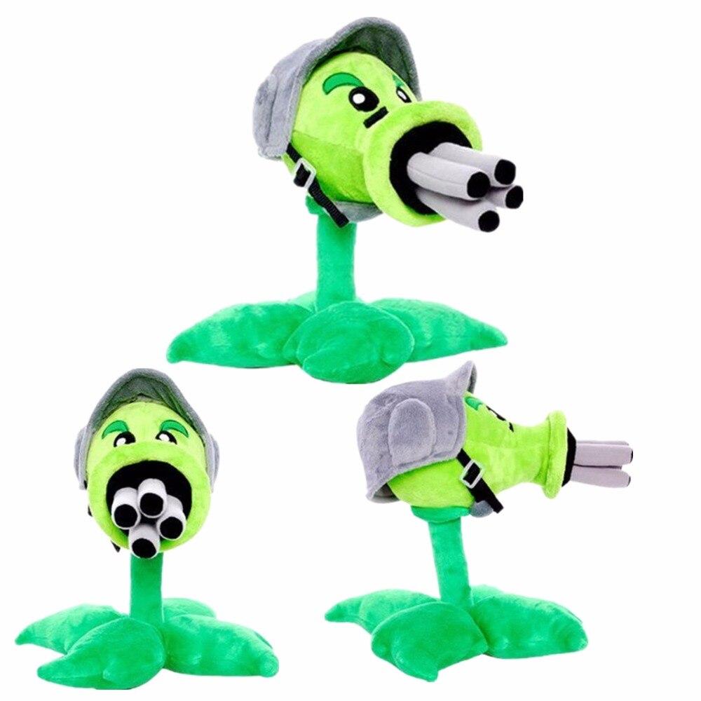 12inch 30cm Plant Vs Zombies Toy PopCap Gatling Peashooter zombie Plush Toys For Children XD253
