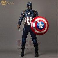 Горячая ~ Капитан Америка: Гражданская война Капитан Америка Стив Роджерс косплей шлем и костюм mp003198