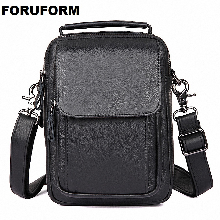 2018 100% Genuine Leather Men Messenger Bag Casual Crossbody Bag Business Men's Handbag Bags for gift Shoulder Bags Men LI-1989 casual canvas women men satchel shoulder bags high quality crossbody messenger bags men military travel bag business leisure bag