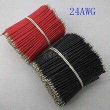 100/pcs.24AWG красный оловянный электронный кабель, 70 мм электронные компоненты, DIY Панель провода