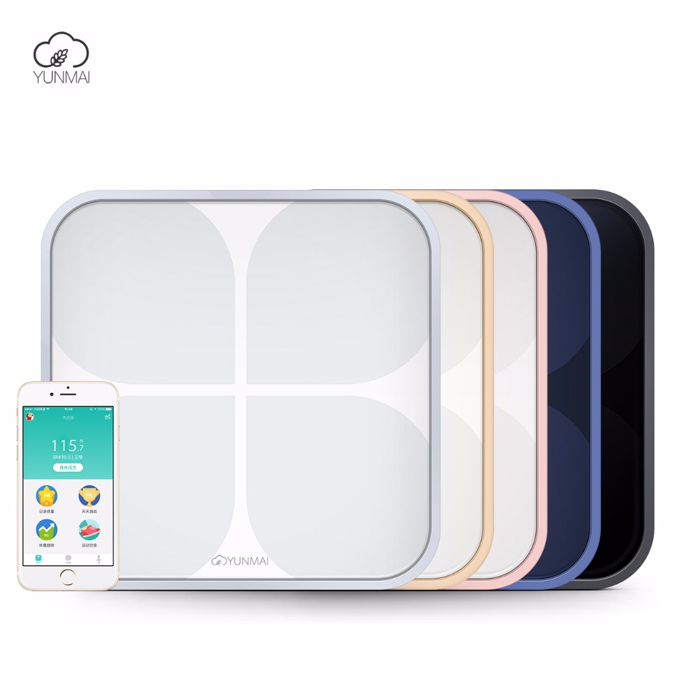 Hot Support WiFi Bluetooth Yunmai 2 Bathroom Body Smart Scale Household Premium Digital Mi Scale Electronic Weiging Floor Scales