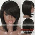 Must haves cor curto bob peruca sintética resistente ao calor preto cabelo natural em linha reta curta bob sintético nenhum lace wigs para mulheres