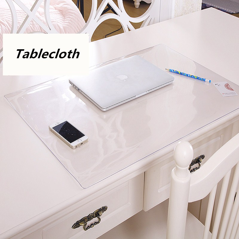 Student table mats Transparent tablecloth Crystal table mat Desk protection pad PVC transparent soft glass table cloth