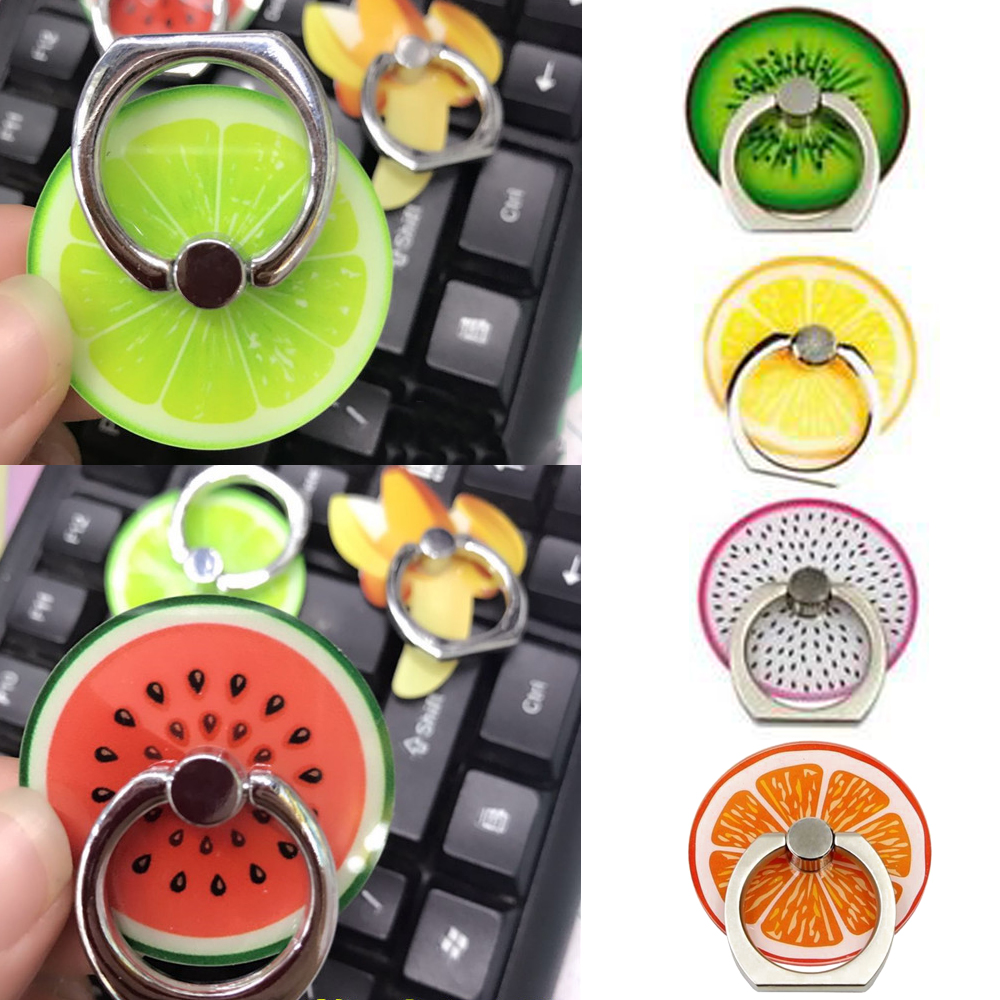 Universal Fruit Phone Holder Colorful Mount Grip Stand 360 Degree Finger Ring For IPhone X 8 7 Plus Xiaomi HTC