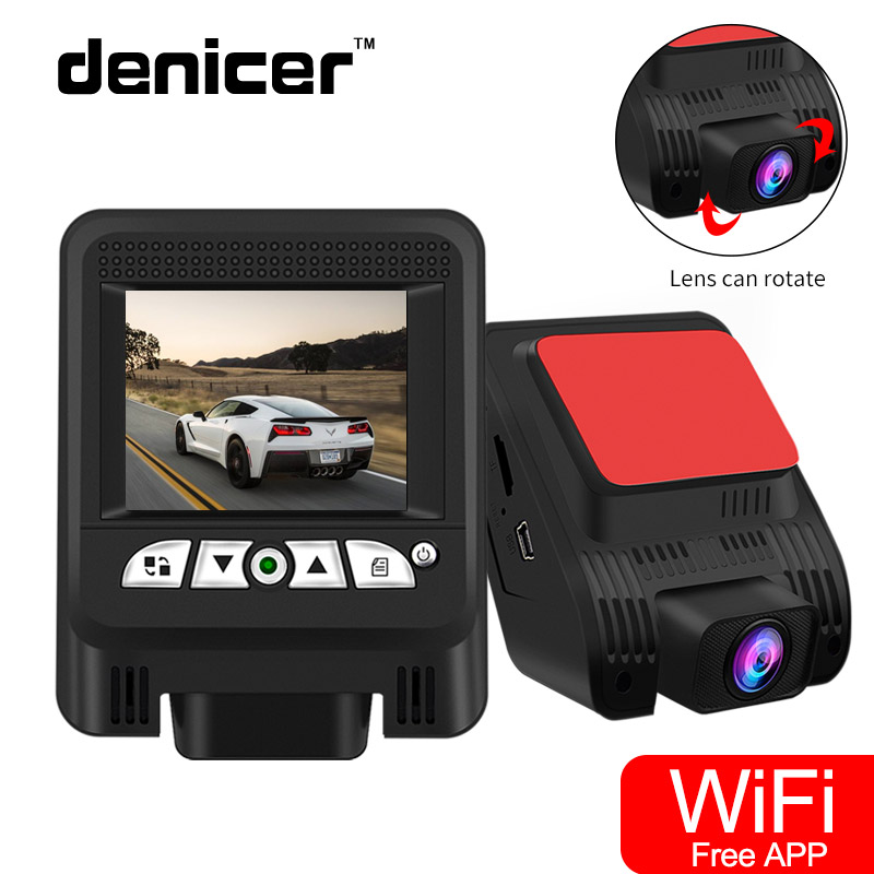 Denicer Car Camera FULL HD 1080P DVR SONY IMX323 Dash Cam 170 Degree Wide Angle Car Video Recorder Camera With WIFI Night Vision 1080p 360° panorama wifi car dash camera 230° wide angle night vision wdr