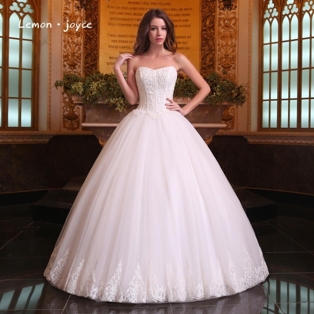 Romantic Wedding Dresses Ball Gowns 2019 Modern Strapless