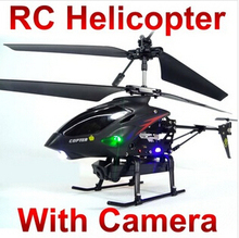 Best Birthday Gift WL S977 3.5 CH Radio iphone remote Control Metal Gyro rc Helicopter With Camera quadcopter M087