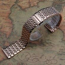 Кварц тонкий Ремешок Из Нержавеющей СТАЛИ Часы браслет strap18mm 20 мм 22 мм бабочки пряжки красивые кварцевые часы